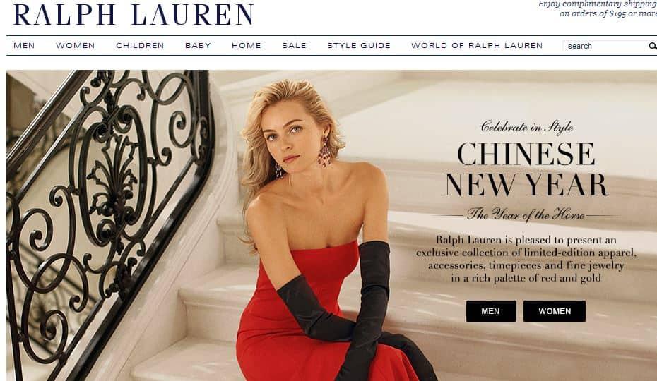 ralph lauren homepage