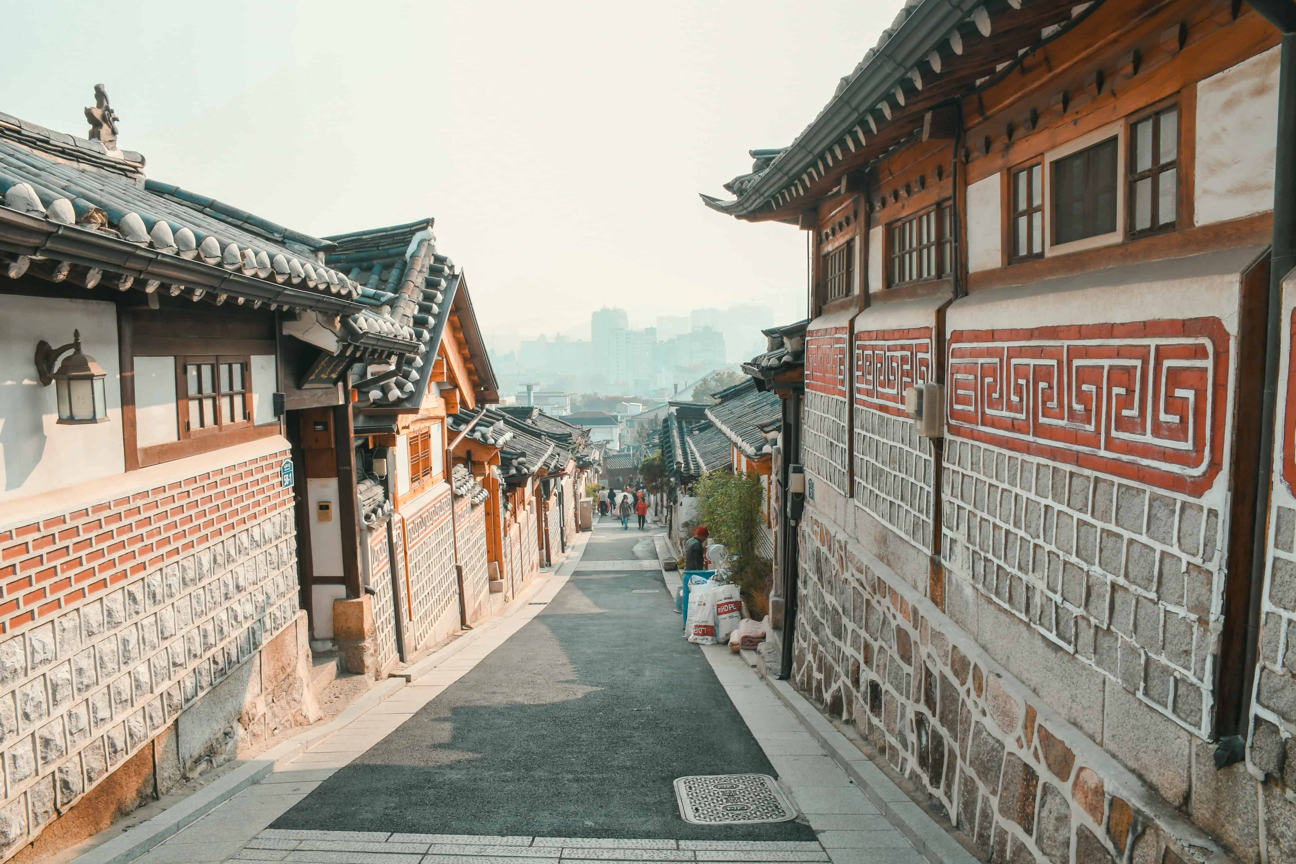 Bukchon Hanok Village view in Seoul
